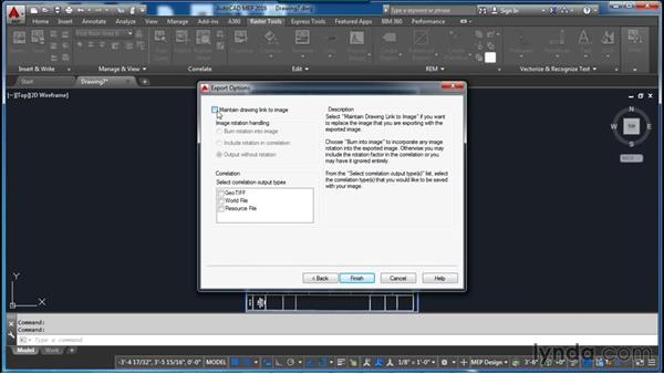 Exporting an image: AutoCAD Raster Design Essential Training