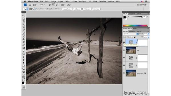 Beach swing pt. 3: Adding noise and final color and tone adjustments: Photoshop CS4 for Photographers: Creative Color