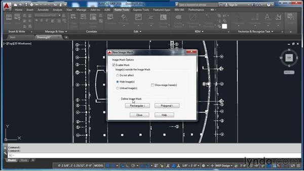 Creating an image mask: AutoCAD Raster Design Essential Training