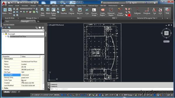 Managing images: AutoCAD Raster Design Essential Training