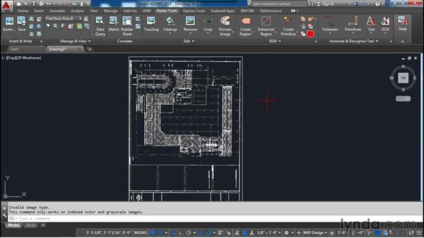 Changing an images color depth (converting): AutoCAD Raster Design Essential Training