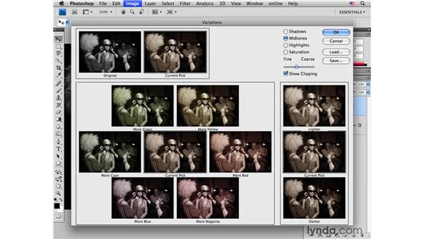 Creating a sepia tone quickly with Variations: Photoshop CS4 for Photographers: Creative Color