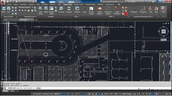 Removing areas of an image: AutoCAD Raster Design Essential Training