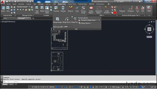 Merging images: AutoCAD Raster Design Essential Training