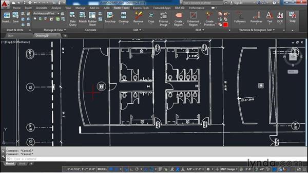Merging vectors: AutoCAD Raster Design Essential Training
