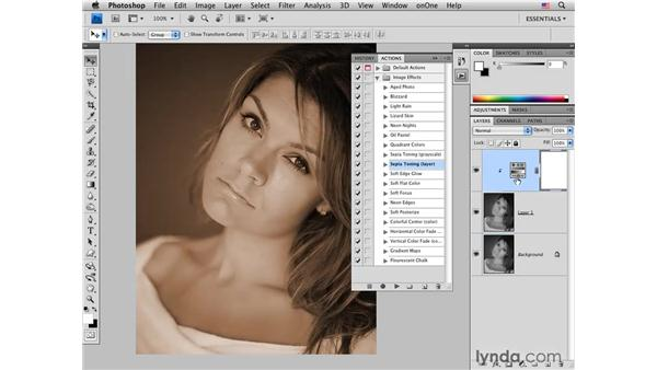 Using actions for a quick sepia conversion: Photoshop CS4 for Photographers: Creative Color