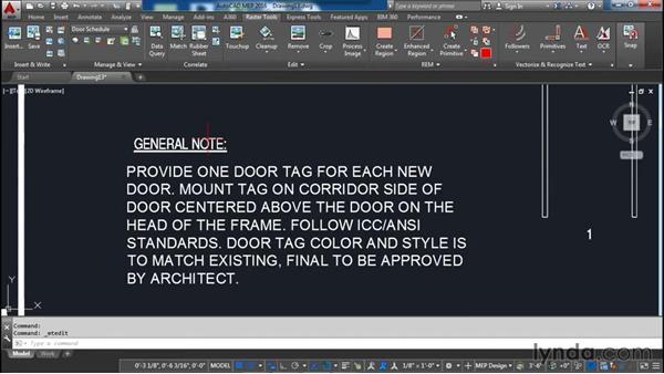 Recognizing text: AutoCAD Raster Design Essential Training
