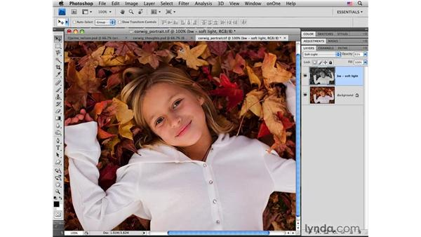 Autumn leaves portrait: Muted color and tone made simple: Photoshop CS4 for Photographers: Creative Color