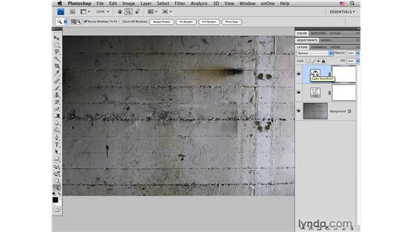 Concrete wall pt. 1: Adding color : Photoshop CS4 for Photographers: Creative Color