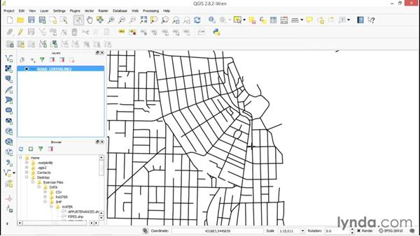 Utilizing polyline layers: Up and Running with QGIS