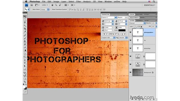 Concrete wall pt. 3: Working with type: Photoshop CS4 for Photographers: Creative Color