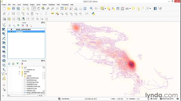 Creating a heatmap from points: Up and Running with QGIS