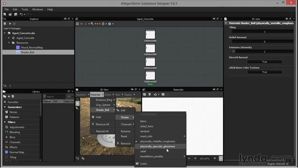 Checking the material assignments: Up and Running with Substance Designer
