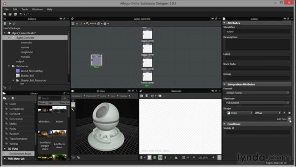 Creating material outputs: Up and Running with Substance Designer