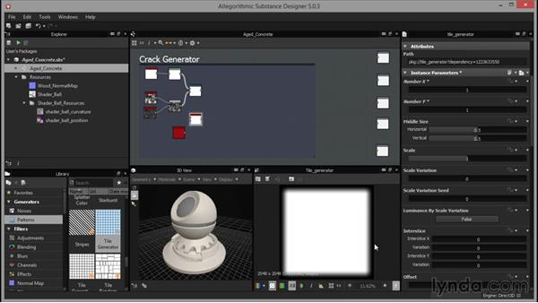 Using generator nodes to create large surface detail: Part 3: Up and Running with Substance Designer