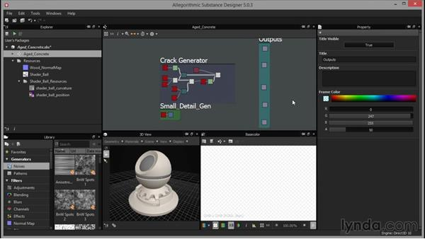 Framing our outputs: Up and Running with Substance Designer