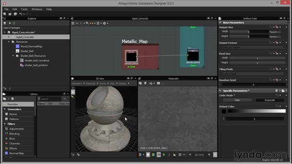 Making the metallic map: Up and Running with Substance Designer