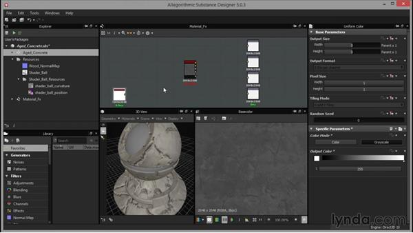 Applying material effects: Up and Running with Substance Designer