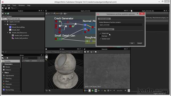 Publishing a substance: Up and Running with Substance Designer