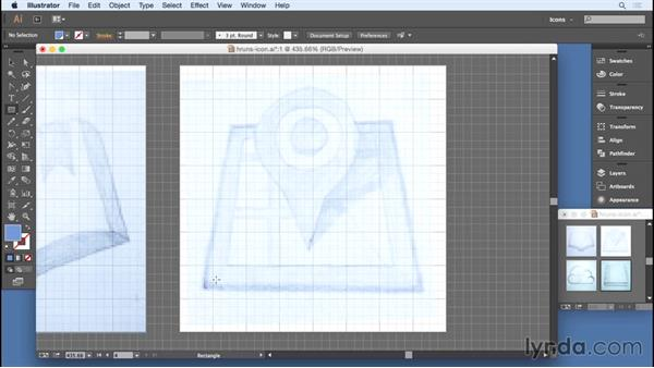 Creating basic shapes: Designing Icons for the Web