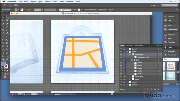 Merging shapes: Designing Icons for the Web