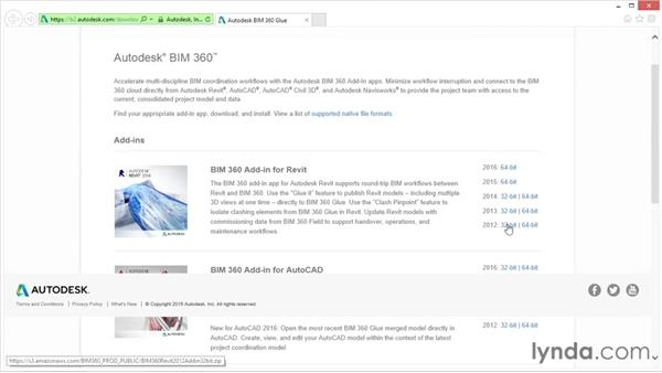Using the help page: Up and Running with BIM 360 Glue
