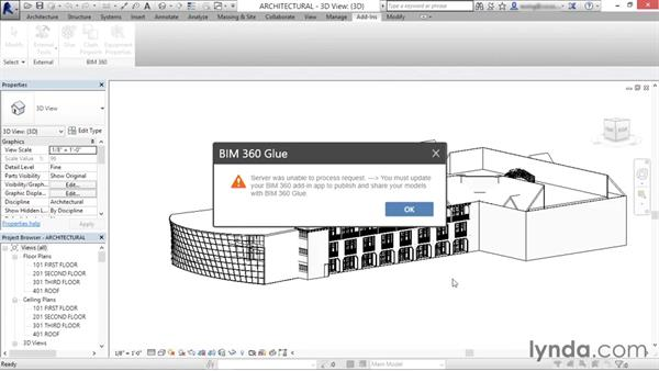 Configuring the add-on: Up and Running with BIM 360 Glue