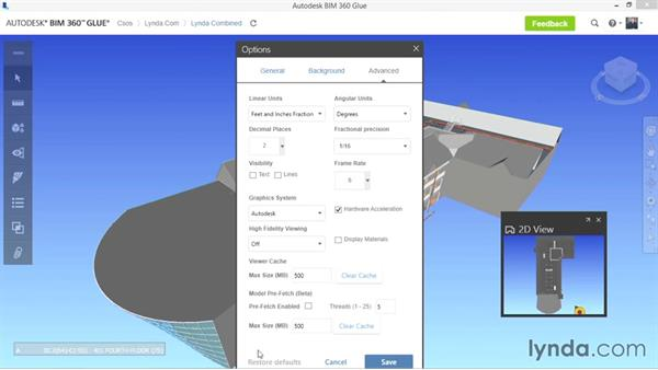 Opening and viewing models: Up and Running with BIM 360 Glue