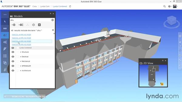 Searching model components: Up and Running with BIM 360 Glue