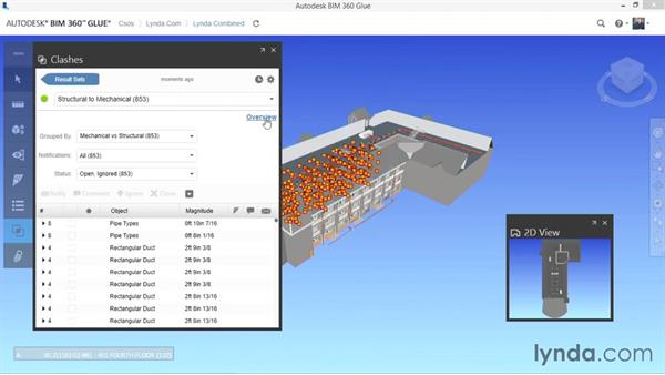 Finding clashes: Up and Running with BIM 360 Glue