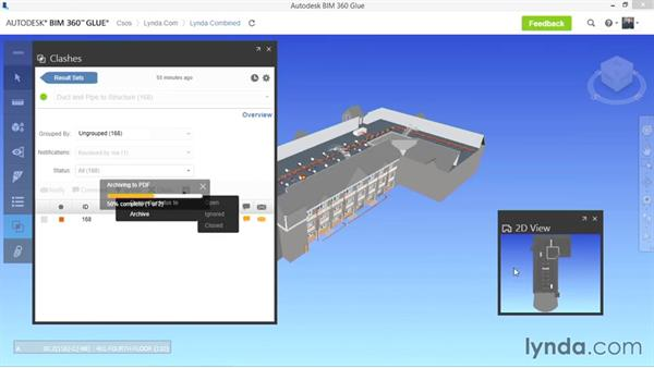Resolving and reporting clashes: Up and Running with BIM 360 Glue
