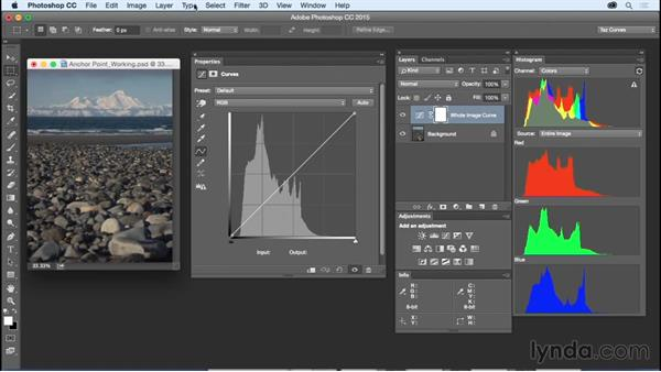 Setting up your Curves workspace: Exploring Photoshop: Mastering Curves