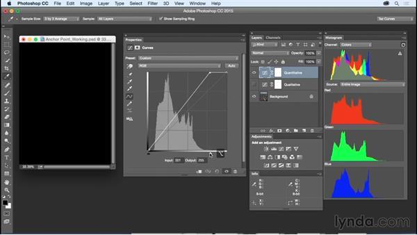 Making qualitative versus quantitative adjustments: Exploring Photoshop: Mastering Curves