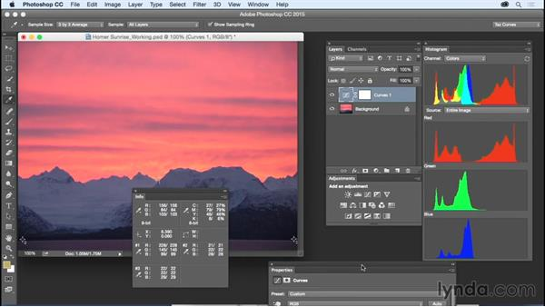 Using masks to control adjustments: Exploring Photoshop: Mastering Curves