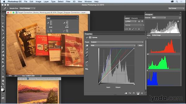 Quickly correcting color with a target: Exploring Photoshop: Mastering Curves