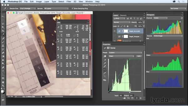 Achieving super accurate, target-based color corrections: Exploring Photoshop: Mastering Curves