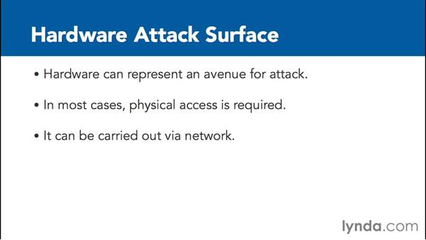 Minimizing the attack surface: Foundations of IT Security: Core Concepts