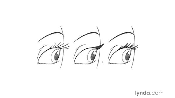 Drawing realistic eyes: Foundations of Drawing Cartoon Characters for Animation