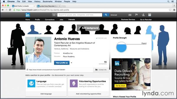Developing and leveraging your personal brand: Up and Running with LinkedIn Recruiter