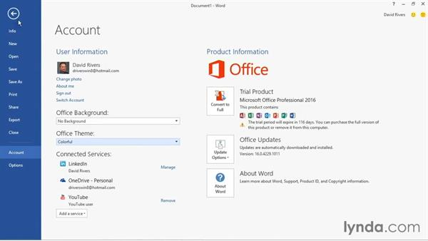 Exploring the new user interface: Office 2016 and Office 365 New Features