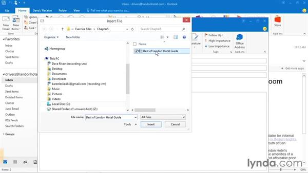 New options when attaching files in an email: Office 2016 and Office 365 New Features