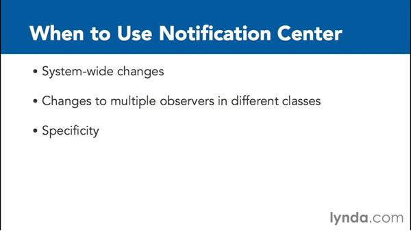 When should the Notification Center be used?: Communicating between Classes with Objective-C