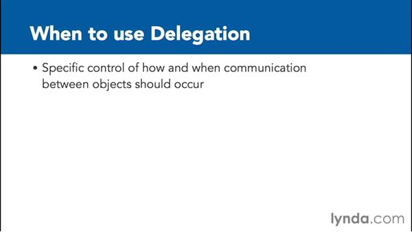 When should delegation be used?: Communicating between Classes with Objective-C