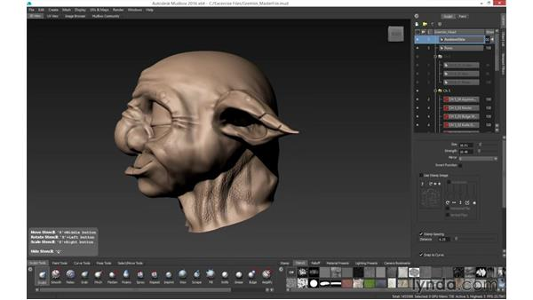Sculpting and painting with stamps and stencils: Mudbox 2016 Essential Training