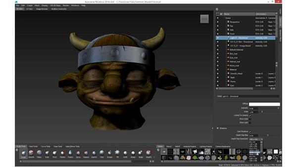 Mudbox lighting: Mudbox 2016 Essential Training