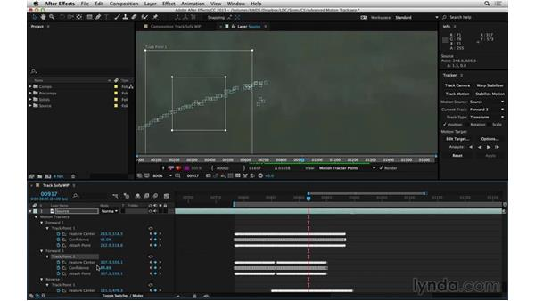 Easily reset a track that goes astray: After Effects Compositing 06: Tracking and Stabilization