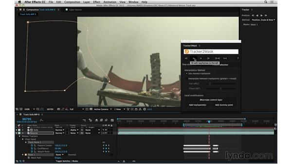 Track a mask directly with Tracker2Mask: After Effects Compositing 06: Tracking and Stabilization
