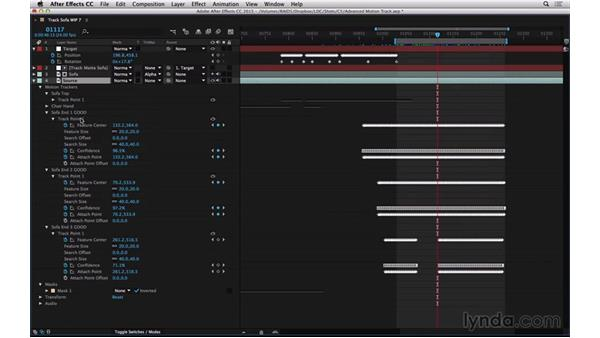 Combine track points with TrackerViz: After Effects Compositing 06: Tracking and Stabilization