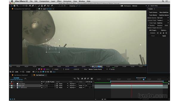 Lock an element for roto: After Effects Compositing 06: Tracking and Stabilization