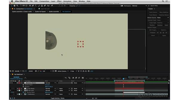 Reverse stabilize to put roto in motion: After Effects Compositing 06: Tracking and Stabilization